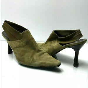 Donald J. Pliner | Green Suede Slingback Heels